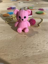 Ketting met roze teddybear Snoepig