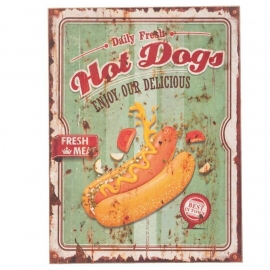 Tekstbord Hot Dog