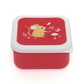 Lunchbox  set Woodland stone blue - Petit Monkey