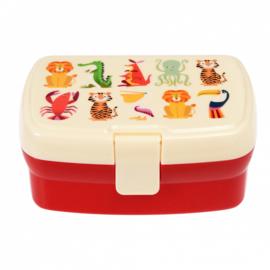Lunch (bento) box Kleurrijke Dieren - Rex London