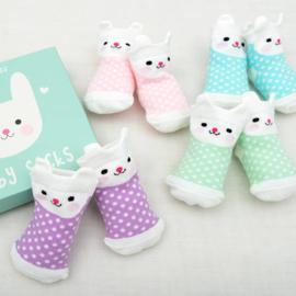 Cadeauset Baby Sokken Konijntje - Rex London