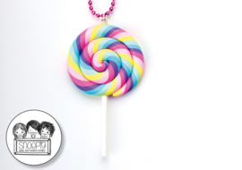 Ketting XL Swirl Lolly Pastel - Snoepig