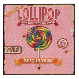 Tekstbord Lollipop