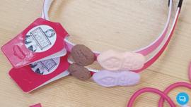 Sinterklaas haarband lichtroze Snoepig
