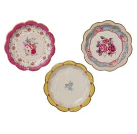 Fleurige & Kleurige wandbordjes 3 assorti Roosjes