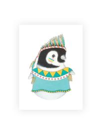 Ansichtkaart luxe, Lola de pinguin