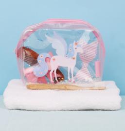 Toilettasje Glitter Eenhoorn - A Little Lovely Company