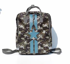 Rugzak Camouflage Blauw - Popqorn