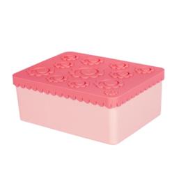 Lunchbox groot  roze - Blafre