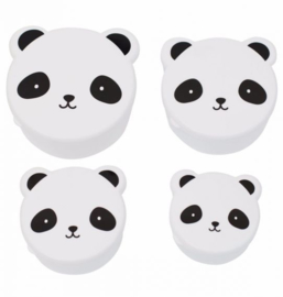 Snackbox set Panda (4 stuks) - A Little Lovely Company