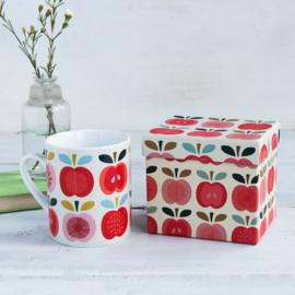 Mok / Beker in giftbox Vintage Appel