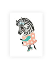 Ansichtkaart luxe, Ella de zebra