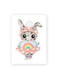 Ansichtkaart luxe, Bobbi het konijntje