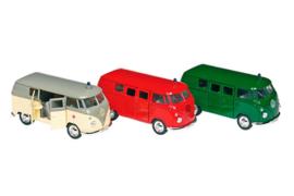 Retro look VW busjes Ziekenauto - Brandweer - Politie
