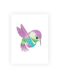 Ansichtkaart luxe, Kiki de kolibrie