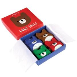 Cadeauset Baby Sokken Beertje - Rex London