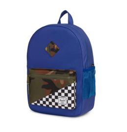 Herschel Heritage Youth Ultramarine/Checker/Woodland Camo Rugzak