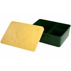 Lunchbox  Groot Beer groen-geel - Blafre