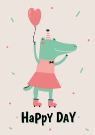 Poster Happy Day Krokodil