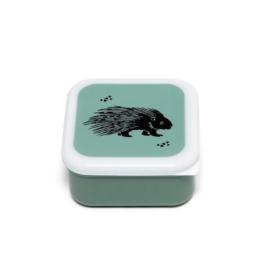 Lunchbox set Black Animals salie - Petit Monkey