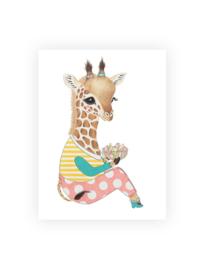 Ansichtkaart luxe, Guusje het girafje
