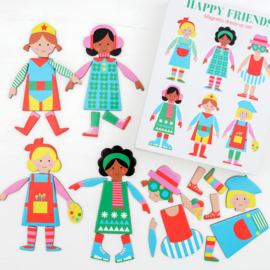 Magnetische Dress Up set Happy Friends - Rex London