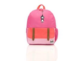 Rugzak Bright Pink Colour Block - Zip and Zoe