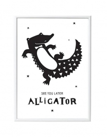 Poster Alligator - A Little Lovely Company