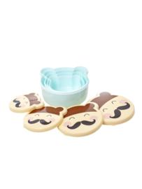 Lunch-Snackbox set Face boy Blauw - Rice