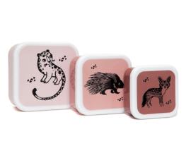Lunchbox set Black Animals - Petit Monkey