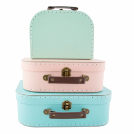 Kofferset Pastel Retro - Sass & Belle