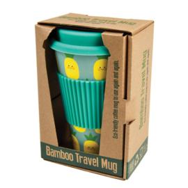 Reisbeker Happy Pineapple bamboe - Rex London