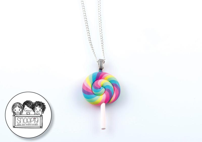 Ketting Swirl Lolly pastel - Snoepig