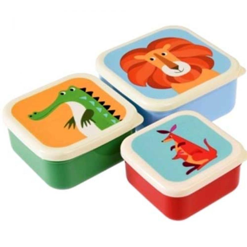 Lunchbox set Kleurrijke Dieren