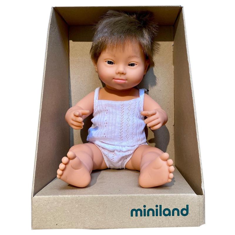 Babypop jongen met Down Syndroom met vanillegeur - Miniland