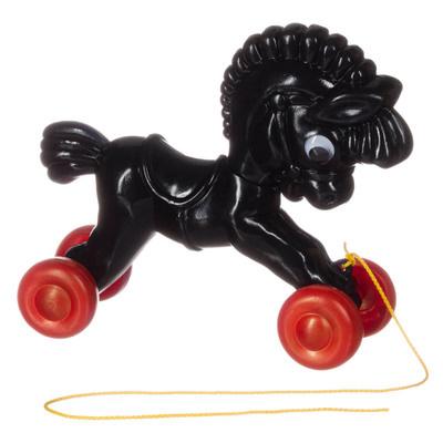 Retro look Trekpaardje zwart