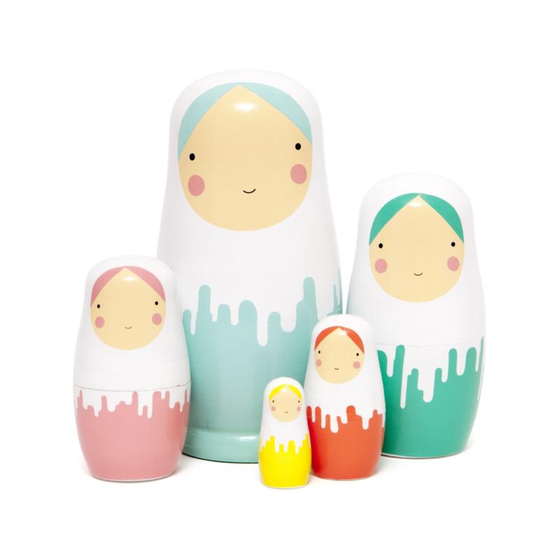 Pastel Nesting Dolls, Matroeska's - Petit Monkey