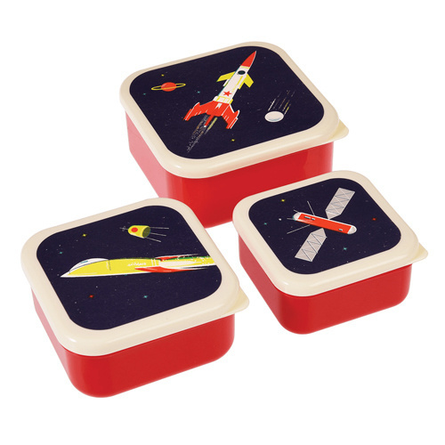 Lunchbox set Ruimte Raket - Rex London