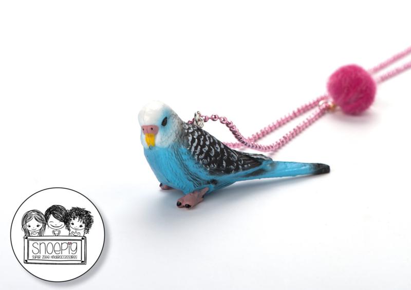 Ketting Love Bird Blauw - Snoepig