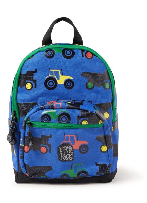 Rugzakje Tractor blauw - Pick & Pack