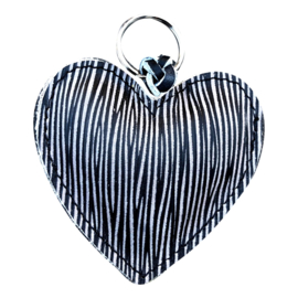 LEATHER HEART XL - / FEM