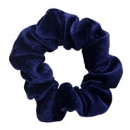 SCRUNCHIE HAARELASTIEK - /	VELVET DARK BLUE