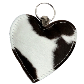 LEATHER HEART XL - / ROSA