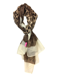 SHAWL LEOPARD - / WHITE