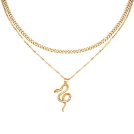 Ketting slang goud