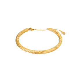 Bangle twist goud