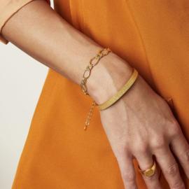Armband Chuncky Chain Goud