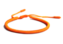Tibetaanse geluksarmband oranje