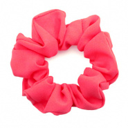 SCRUNCHIE HAARELASTIEK - /	CORAL RED