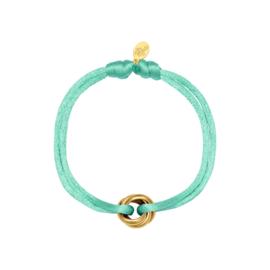 Armband van satijn mint